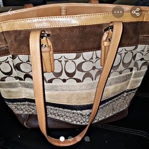 Coach Brown Metallic Signature